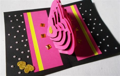 card paper craft ideas diy paper craft how to make pop up card by