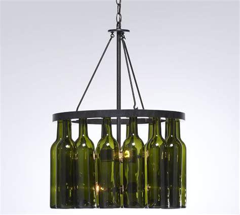 wine bottles chandelier wine bottle chandelier pottery barn