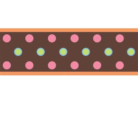 Wall Border Stickers dot wall sticker border brown stickers for wall com