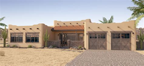 Pueblo Style Ranch Home mission style houses blog house plan hunters