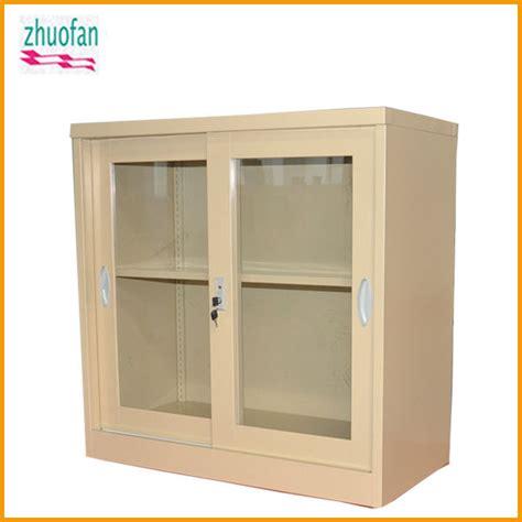 metal storage cabinet with glass doors glass sliding cabinet doors