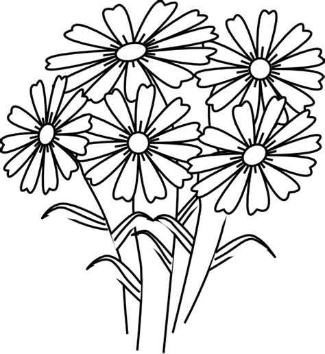 coloring book pictures of flowers coloring book flowers clip at clker vector clip
