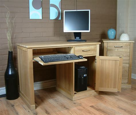 home computer desks uk mobel contemporary oak computer desk single pedestal