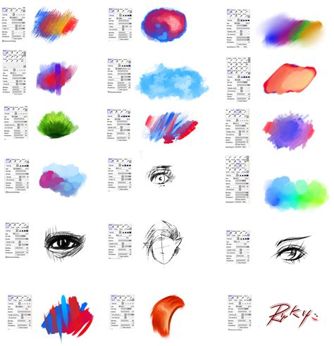 paint tool sai custom brushes brushes type for paint tool sai 2 by ryky on deviantart