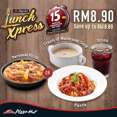 pizza hut lunch buffet menu pizza hut lunch xpress menu pizza or pasta combo set rm8