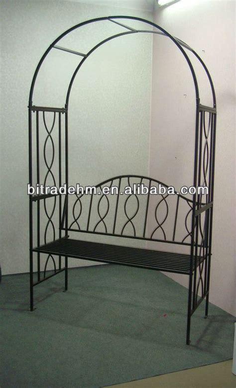Garden Arch And Bench Metal Garden Arch With Bench Buy Metal Garden Arch With