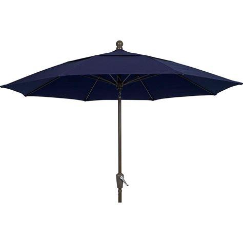 11 ft offset patio umbrella hton bay 11 ft led offset patio umbrella in sunbrella