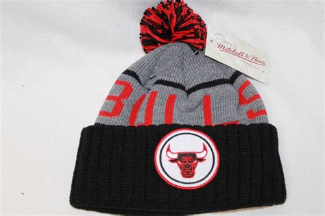 chicago bulls knit hat chicago bulls cap beanie knit quot vintage block pom