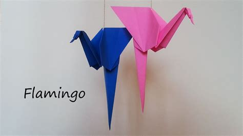 origami flamingo origami flamingo tutorial