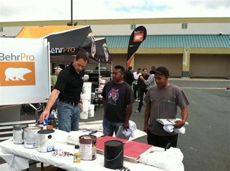 home depot paint event behr hits road for 2nd mobile tour for professional