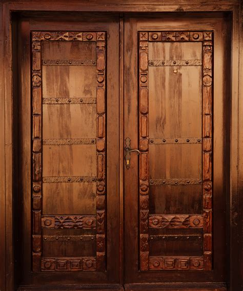 wooden door carved wooden door free stock photo domain pictures