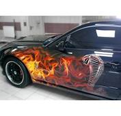 Car Airbrushing Painting Mustang Shelby Cobra Fire