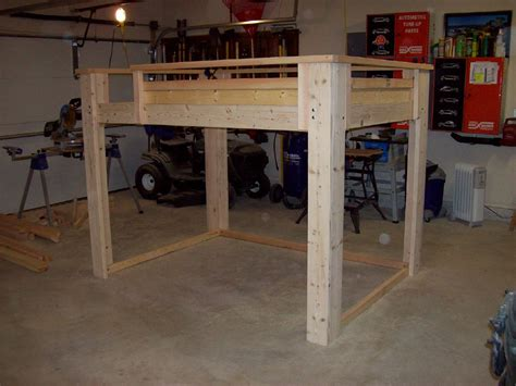 diy loft bed free diy size loft bed plans