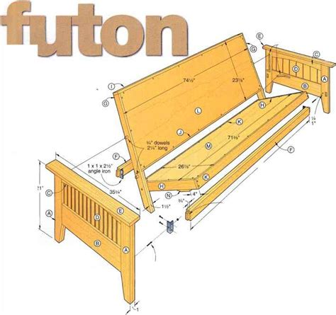 futon woodworking plans wood futon frame plans how to build furniture