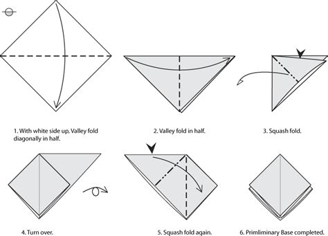 how to make a origami bird base origami bases preliminary square and bird bases