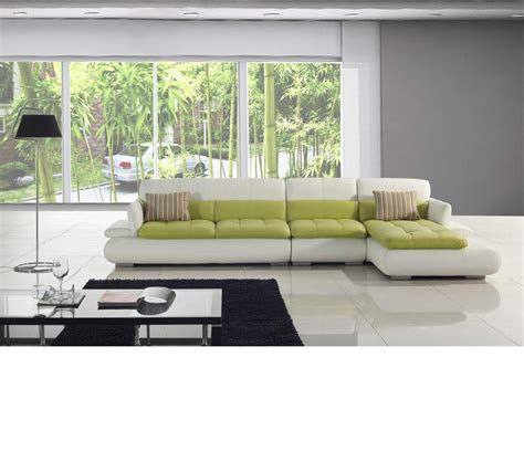 green sectional sofa green leather sectional sofa poundex moss f7604 green