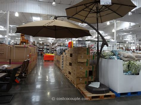 costco patio umbrellas 11 foot parisol cantilever umbrella