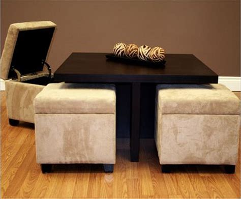 coffee table with four ottomans small coffee table with 4 integrated ottomans