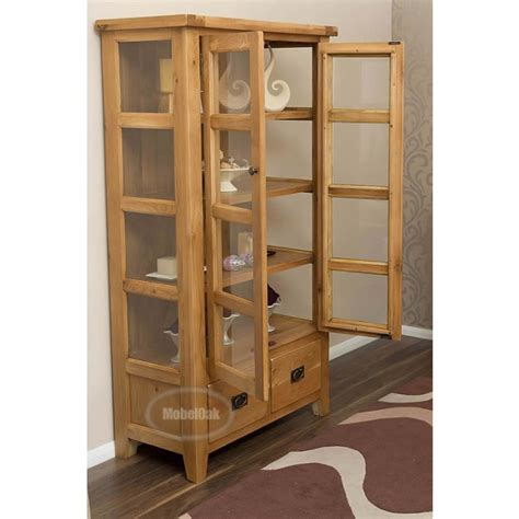 Best Brand Of Kitchen Cabinets vancoouver rustic oak tall display cabinet best price