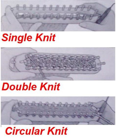 types of knits the knifty knitter knifty knitter types of knit