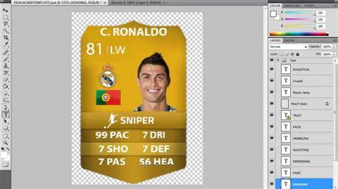 How To Make A Custom Fifa 14 Ultimate Team Card