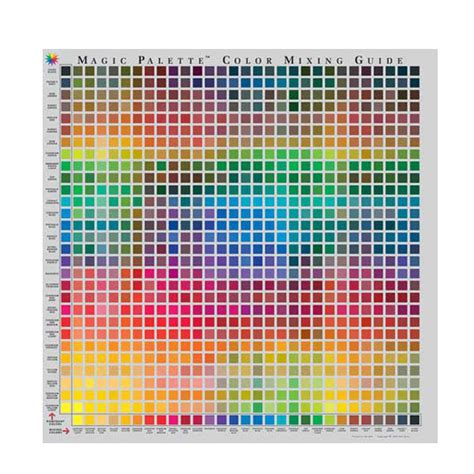 angelus paint mixing guide buy magic palette studio color mixing guide 24inc