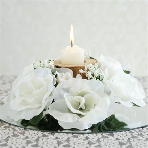 centerpieces for sale 48 candle rings with silk roses wedding flowers for
