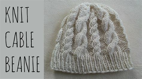 Cable Beanie Easy Knit Pattern Tutorial