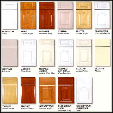 styles of kitchen cabinets kitchen cabinet door styles and shapes to select home