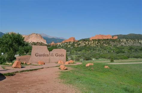 Garden Of The Gods Exit Entry Exit At Balanced Rock Picture Of Garden Of The