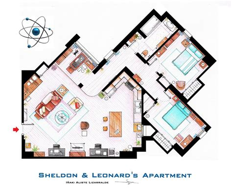 floor plans of tv show houses artsy architectural apartment floor plans from tv shows 9