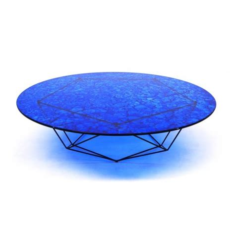 blue coffee table bright blue glass coffee table