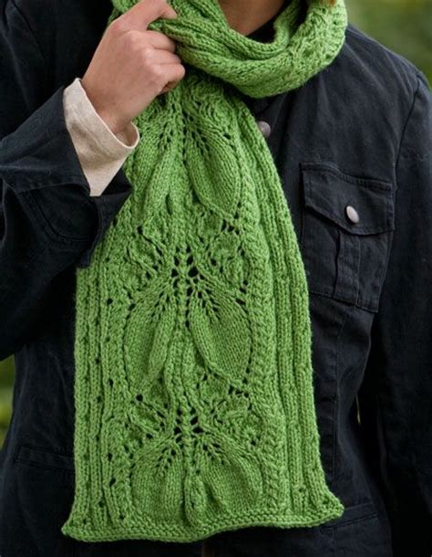 leaf knitting pattern scarf falling leaves scarf knitting patterns and crochet