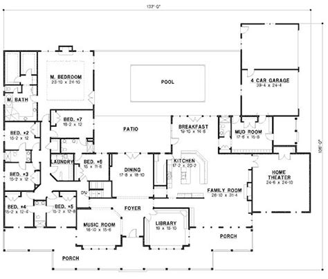 7 bedroom floor plans 7 bedroom house plans page 2