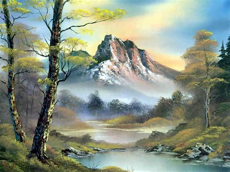 bob ross paintings hd landscape paintings 7 high resolution wallpaper