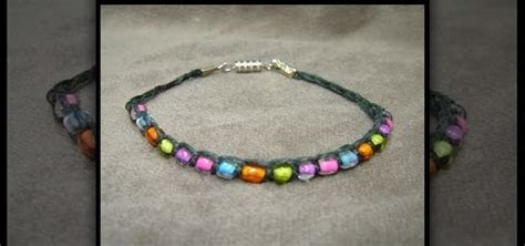how to make jewelry bracelets how to make a beaded hemp bracelet using macrame