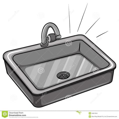 All Metal Kitchen Faucet a kitchen sink stock vector image of aluminum kitchen