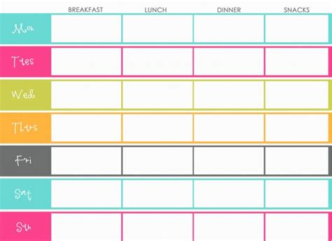 home planner free the design pages free printable meal planners