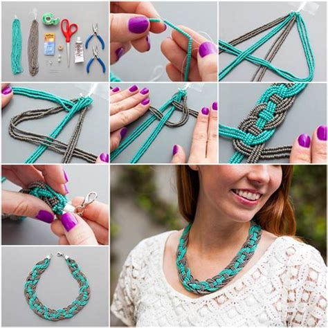 how to make cool jewelry wonderful diy unique woven bead necklace