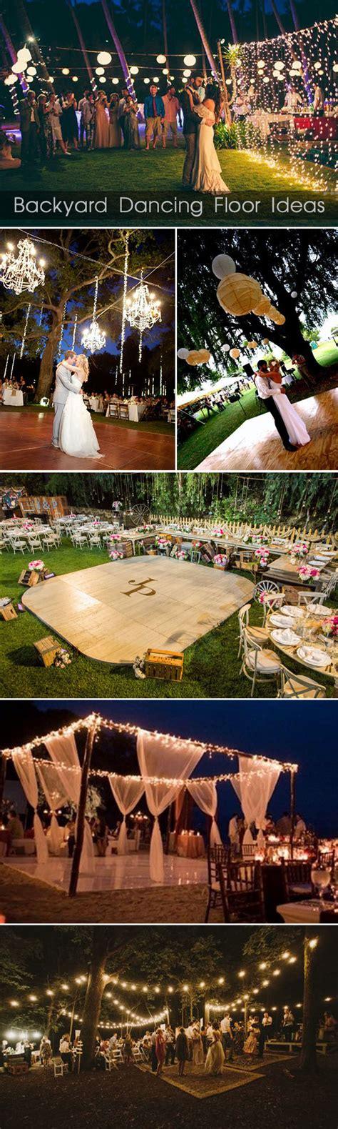 backyard floor ideas 30 sweet ideas for intimate backyard outdoor weddings