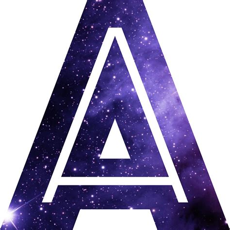 Large Alphabet Wall Stickers quot the letter a space quot stickers by mike gallard redbubble