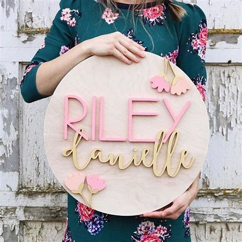 best 25 painted name signs ideas on name personalized name signs for nursery thenurseries