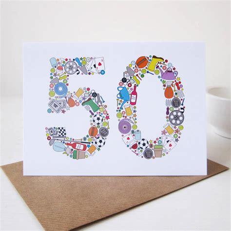 50th birthday card ideas gangcraft net