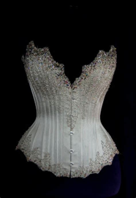 Couture Wedding Corsets And Gowns Silver Beaded Corset