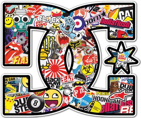 Tattoo Sticker Drucken by Aufkleber Surf Skate Dc Sticker Bomb 2 Webwandtattoo