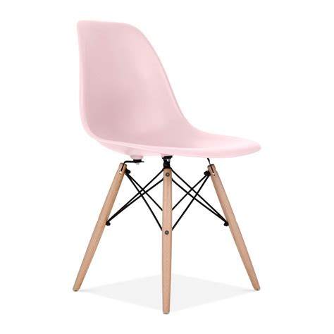 Charles Eames Style Pastel Pink DSW Chair   Dining Chairs   Cult UK