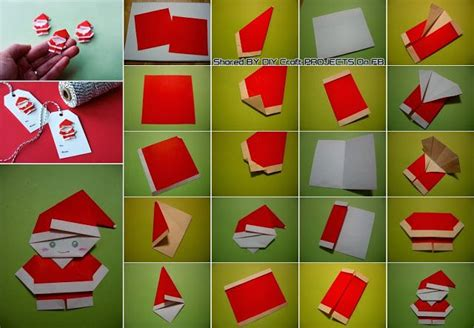 make origami santa claus diy origami p 232 re no 235 l no 235 l tutoriels