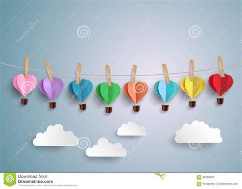 air balloon origami air balloon in a shape stock vector image