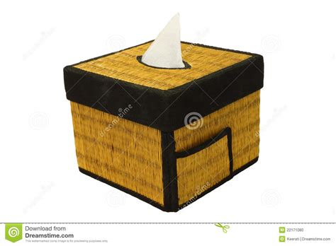tissue paper box craft bamboo craft tissue paper box stock photo image 22171080