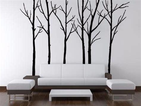 black tree wall sticker winter trees black wall stickers